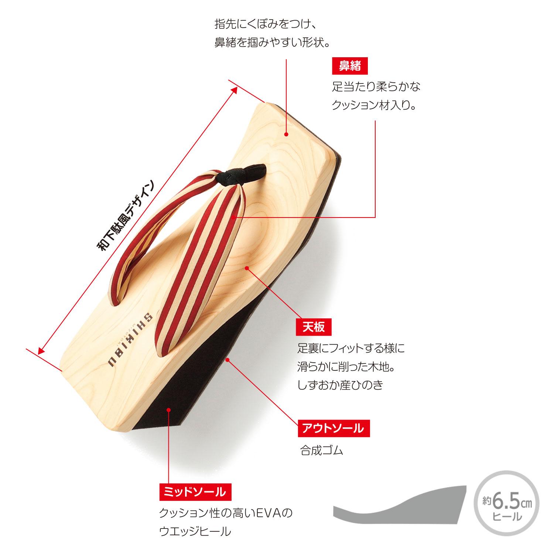 SH-04 ストライプ・紺×ベージュ/赤