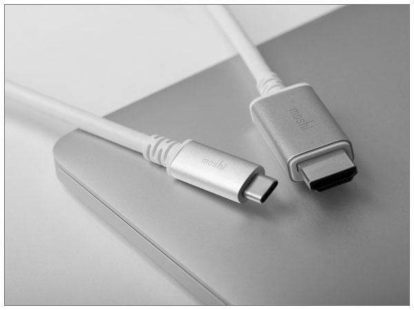 moshi USB-C to HDMI Cable (2m) White【ポイント10倍】