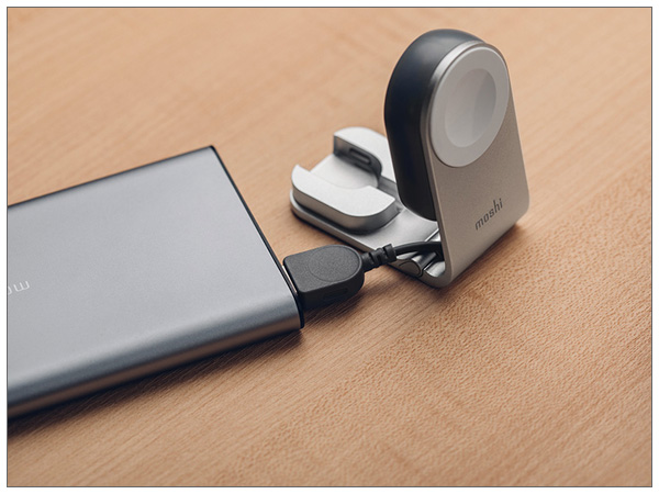 moshi Flekto (silver) 折りたたみ式コンパクトApple Watchチャージャー【ポイント10倍】