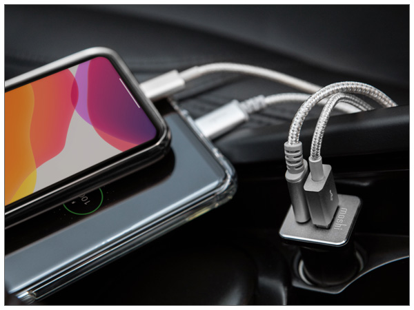 moshi QuikDuo Car Charger Black【ポイント10倍】