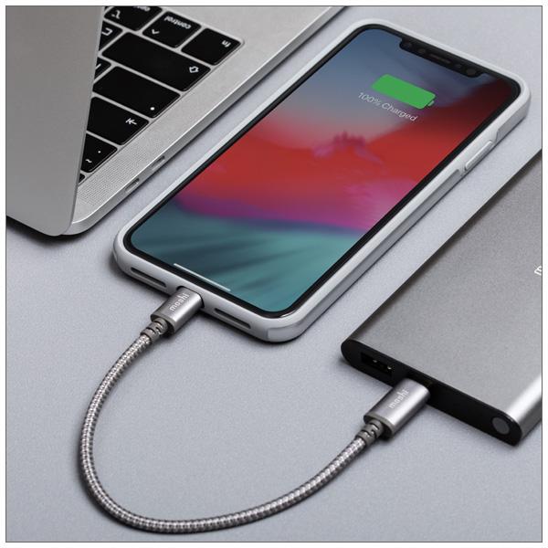 moshi Integra USB-C to Lightning 25cm (Titanium Gray)【ポイント10倍】