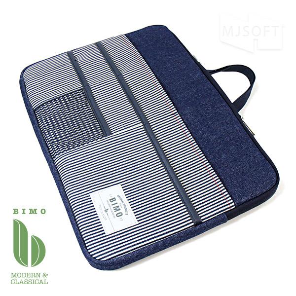 ビモ BIMO マルチポケット デニム ヒッコリー MacBook Pro 13インチ対応 インナーケース クッション付き Multi Pocket PC Case 13inch Denim【ポイント10倍】