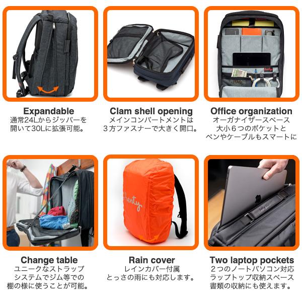 Henty Travel Brief Backpack【ポイント10倍】【送料無料(沖縄県を除く)】