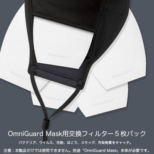 moshi Nanohedron filters pack for OmniGuard Mask (交換用フィルター5枚パック)
