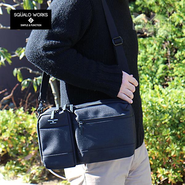 スクアーロ ワークス 2ウェイ ショルダーバッグ ワンショルダー SQUALO WORKS Modest 2Way Shoulder Bag SW-MD01-009 iPad対応【ポイント10倍】