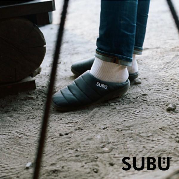 サンダル SUBU スブ スリッパ 起毛加工 ボア 秋冬用 外履き おしゃれ 暖かい 素足で履ける ダウン風 4層構造 ソール ラバー 滑り止め あったかい 2020