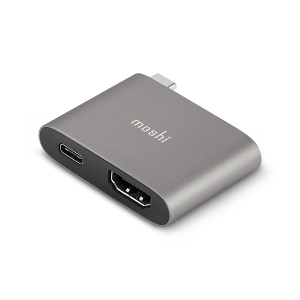 moshi USB-C to HDMI Adapter with Charging (Titanium Gray)【ポイント10倍】