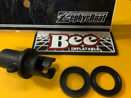 BEE&ゼファー汎用/フラット型バルブアダプター/2種パッキン付/送料込