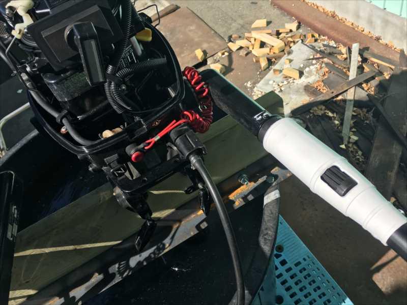 2馬力〜5馬力対応 船外機エクステンションバー(長さ自由自在のズームタイプ)