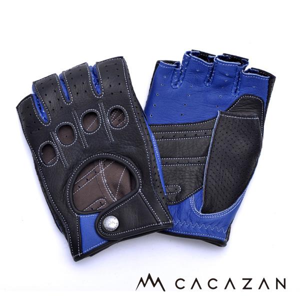 カカザン ドライビンググローブ CACAZAN DDR-071R ブラック ブルー
