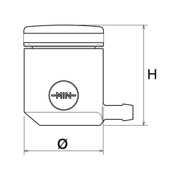 リゾマ フルードタンク CT025 / rizoma FLUID TANKS CT025