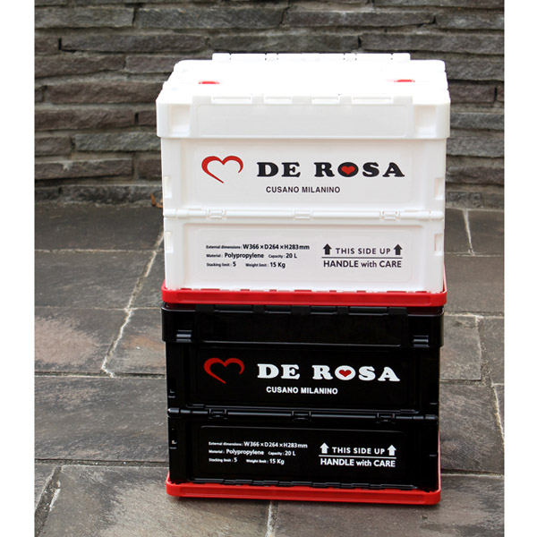 デローザ 折り畳み コンテナ 20L ホワイト De Rosa container 20L white 740114
