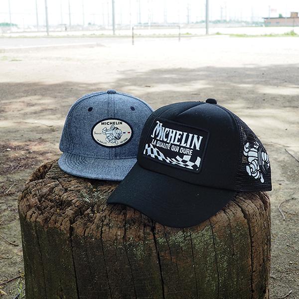 ミシュラン フラップ バイザー キャップ ブルー Michelin Flap visor cap Blue 281228
