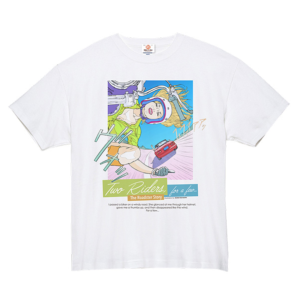 The Roadster Story #1 Two Rider for a few… / T-shirts Illustration by Shohei Harumoto スーパーヘヴィーTシャツ イラストレーション:東本昌平