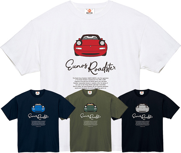 The Roadster Story #2 Eunos Roadster Front Face T-shirts スーパーヘヴィーTシャツ