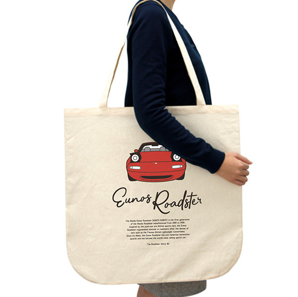 The Roadster Story #2 Eunos Roadster Front Face  Round bottom Big Totebag ラウンドボトムビックトートバッグ