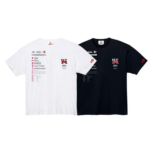 スカイライン GT-R R34 ファンクショナル Tシャツ ver.A