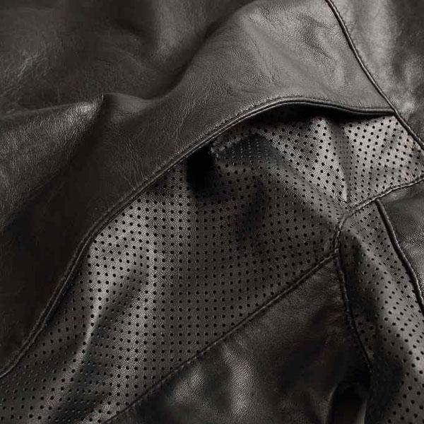 デグナー(DEGNER)ROLE AND CODE メッシュレザージャケット ブラック/RACJ-17