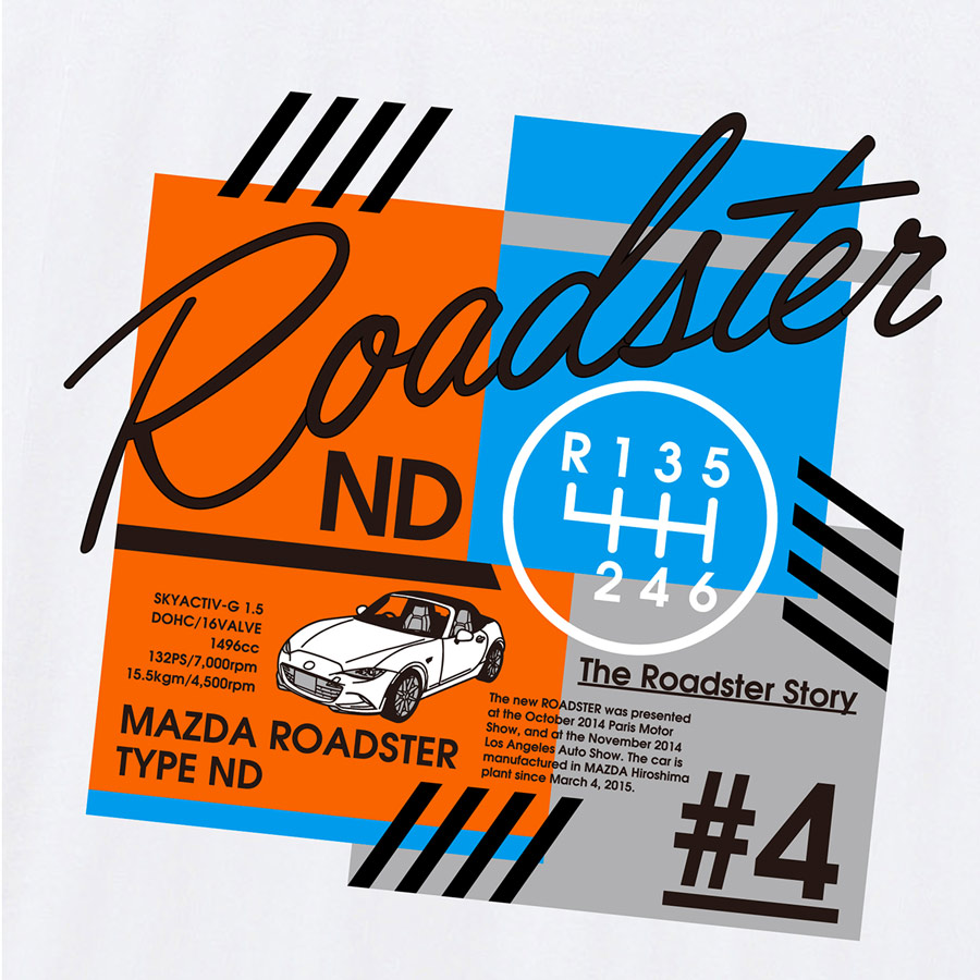 The Roadster Story #4 ND Graphics POP Mobile Ring Holder/ロードスターストーリー #4 NDグラフィックス ポップ スクウェア スマホリング