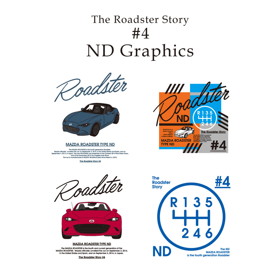 The Roadster Story #4 ND Graphics Shiftknob Mobile Ring Holder/ロードスターストーリー #4 NDグラフィックス シフトノブ サークル スマホリング