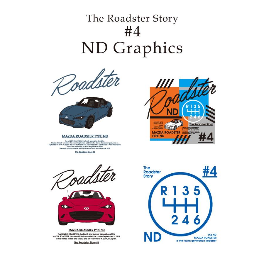 The Roadster Story #4 ND Graphics Shiftknob T-shirts/ロードスターストーリー #4 NDグラフィックス シフトノブ Tシャツ
