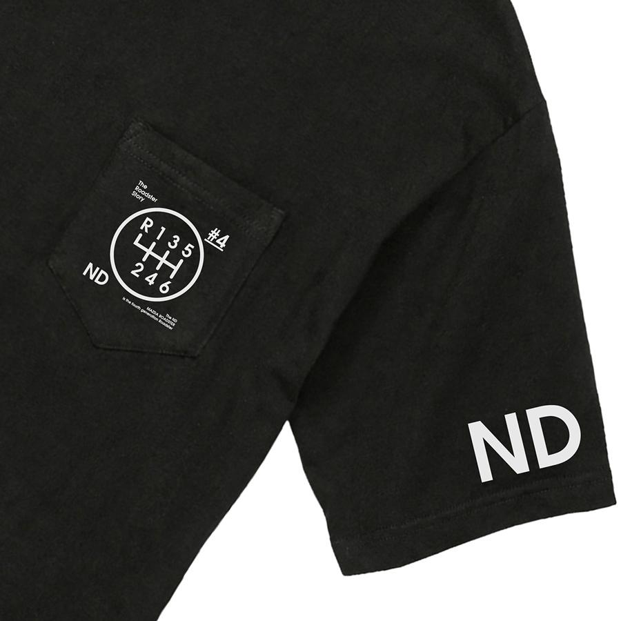 The Roadster Story #4 ND Graphics Shiftknob Big T-shirts/ロードスターストーリー #4 NDグラフィックス シフトノブ ビッグシルエットポケットTシャツ