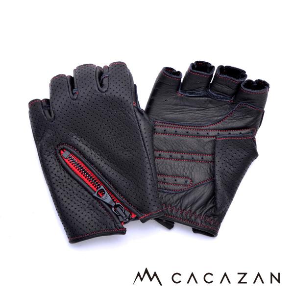 カカザン ドライビンググローブ CACAZAN DDR-050 ブラック レッドステッチ