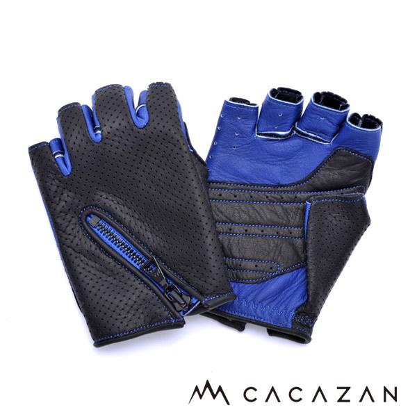 カカザン ドライビンググローブ CACAZAN DDR-051 ブラック ブルー