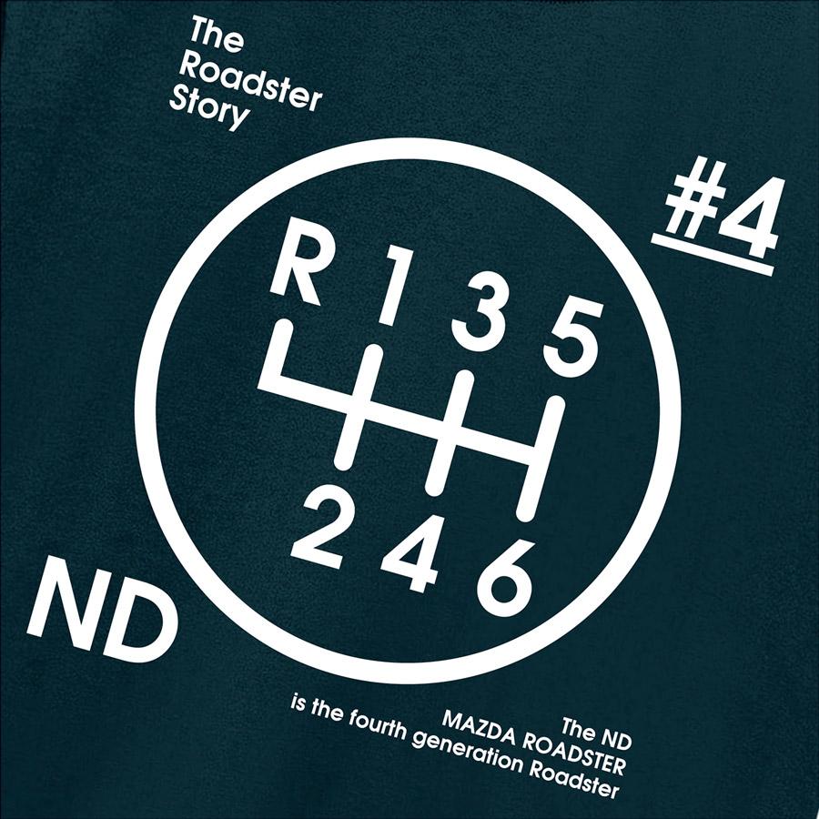 The Roadster Story #4 ND Graphics Shiftknob Totebag / ロードスターストーリー #4 NDグラフィックス シフトノブ トートバッグ