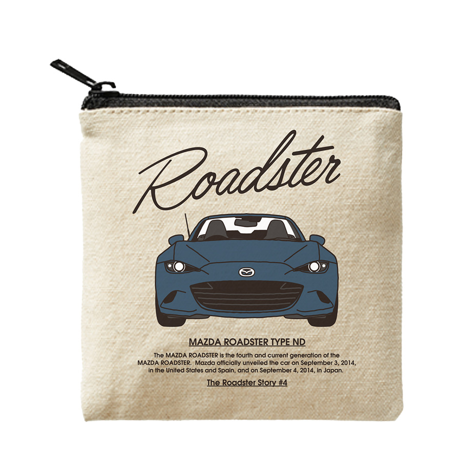 The Roadster Story #4 ND Graphics Front Face Mini Pouch/ロードスターストーリー #4 NDグラフィックス フロントフェイス ミニポーチ