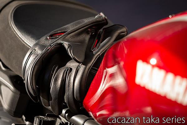 カカザン ディアスキン ライディンググローブ CACAZAN TAKA-012 鹿革 ブラック 黒 全指 鹿革 本革 プレゼント 誕生日 ギフト
