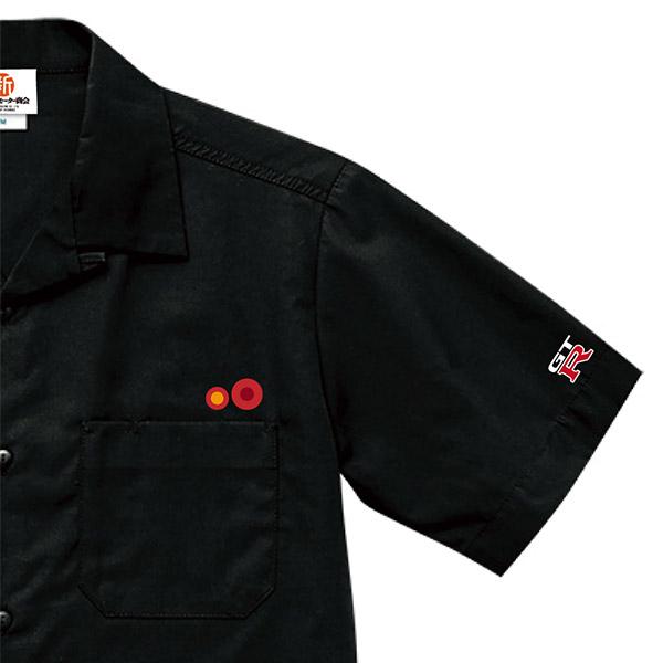 スカイライン GT-R R34 テールデザイン オープンカラーシャツ ブラック