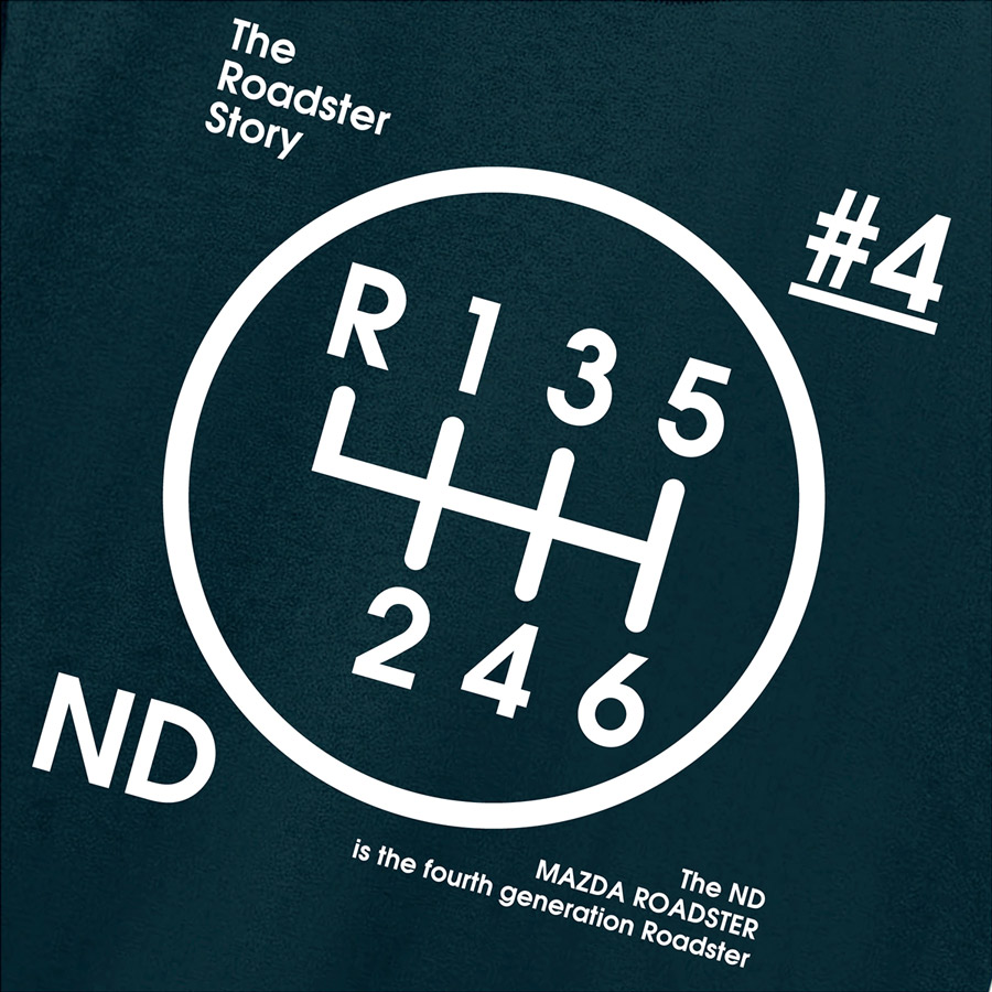 The Roadster Story #4 ND Graphics Shiftknob Mini Pouch / ロードスターストーリー #4 NDグラフィックス シフトノブ ミニポーチ