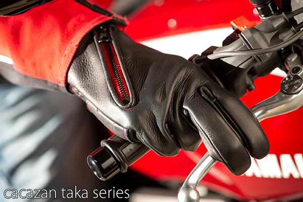 カカザン ディアスキン メッシュ ライディンググローブ CACAZAN TAKA-023 鹿革 ブラック 黒 バイクグローブ 全指 バイク用 本革 プレゼント 誕生日 ギフト