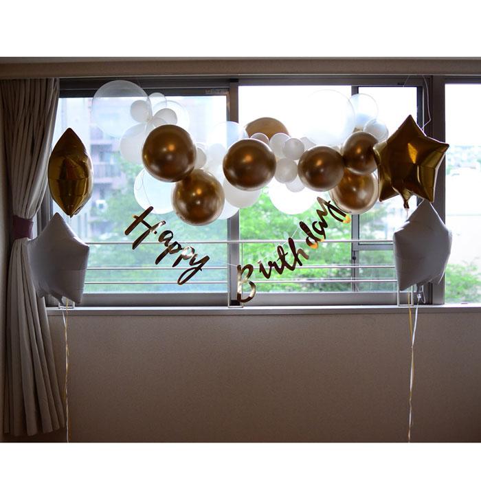 【誕生日 バルーン】【ベビーシャワー バルーン】[箱ポンシリーズ]バルーンガーランドの壁面デコセット