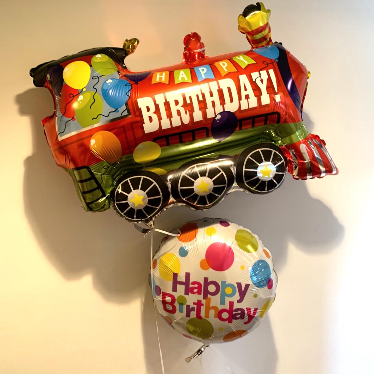 【乗り物 誕生日 バルーン】★乗り物と数字が選べるバルーンブーケ