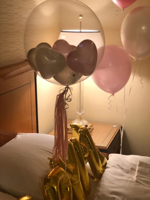 【プロポーズバルーン ホテル客室直送可】MARRY ME バルーンホテル客室セット (ゴム風船セット)