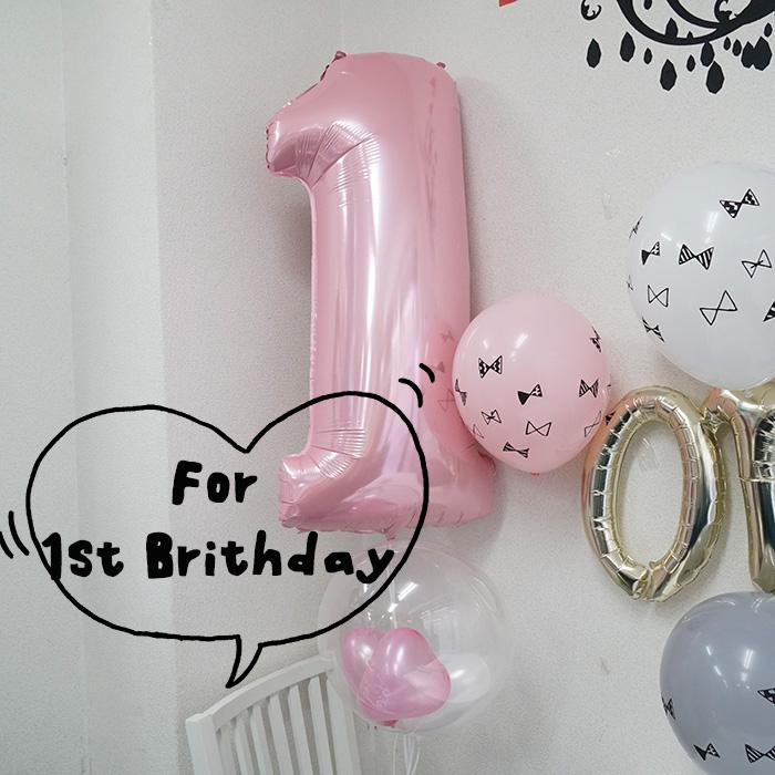 ★【誕生日 バルーン】≪B3≫バルーンブーケ 1stバースデーインサイダーパステル