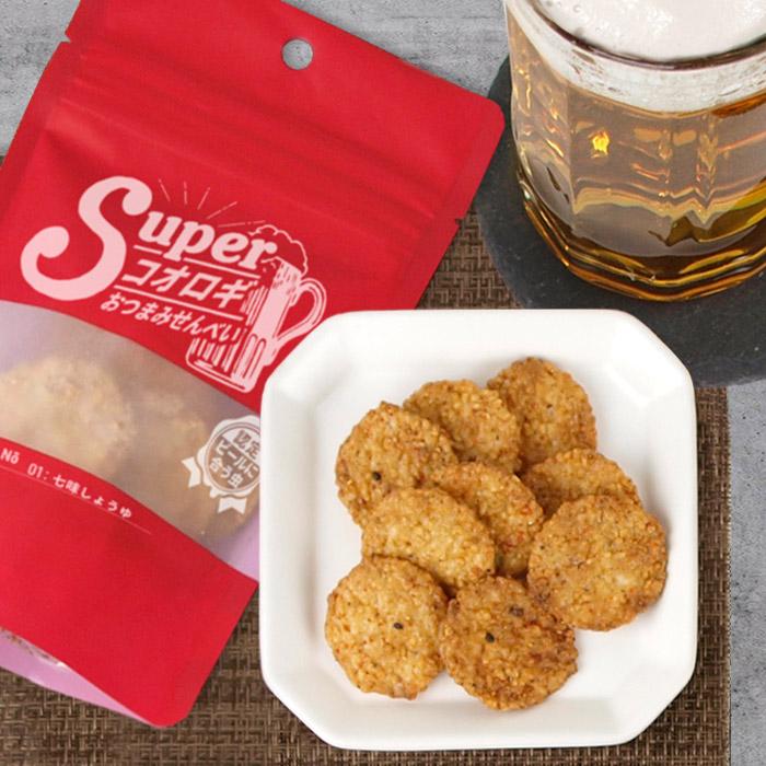 【ケース販売】スーパーコオロギおつまみせんべい 七味しょうゆ