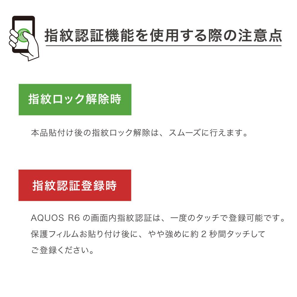 【 AQUOS R6 用】 AFPフィルム3 光沢フィルム