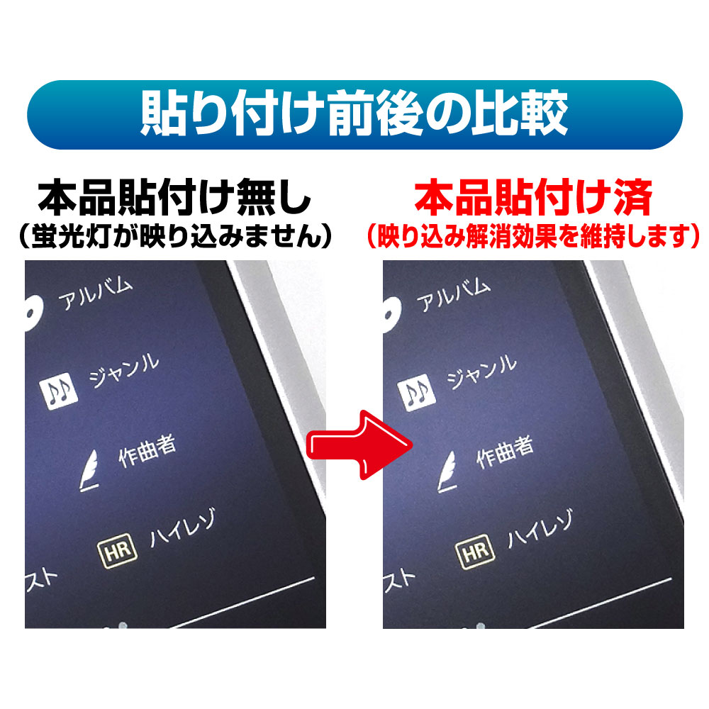 【SONY WALKMAN NW-ZX300 / NW-ZX300G 用】 ノングレアフィルム3 マットフィルム