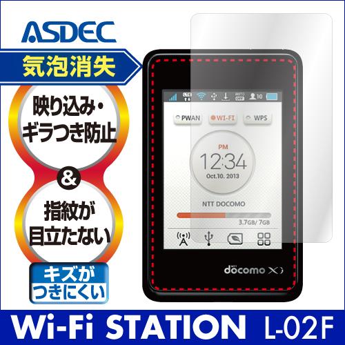 【docomo Wi-Fi STATION L-02F 用】ノングレアフィルム3 Wi-Fiルーター マットフィルム