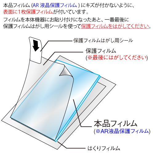【 au かんたんケータイ KYF41 用】 ARフィルム2 光沢フィルム