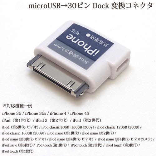【iPhone 30ピン Dock変換アダプタ & microUSB接続ケーブル付き乾電池式充電器】 スマホ・ケータイ 用充電器