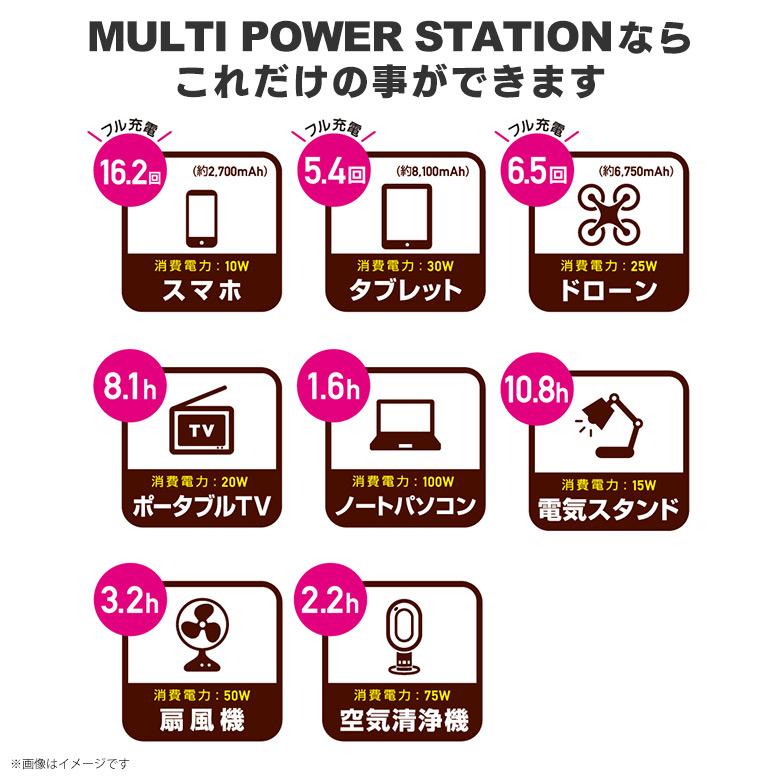 TL108OR<br>ポータブル電源120W 54,600mAh(202Wh)<br>多摩電子工業【代引き不可】