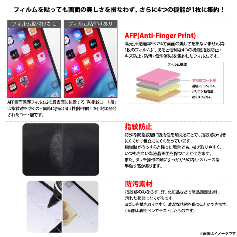 ASH-IPA16<br>iPad Air 10.9インチ (2020年 第4世代)用 AFPフィルム3 光沢フィルム<br>ASDEC アスデック