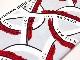 20 チノストレッチ オフホワイト リニアモーターカー柄 レッド