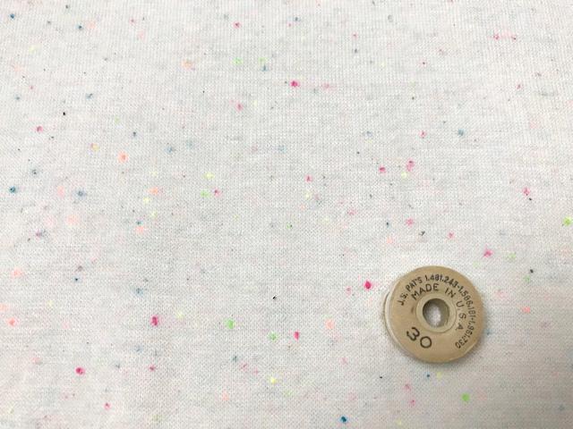30/-ネオンカラーネップ スパンフライス