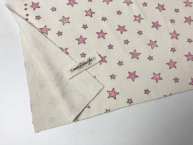 30/コーマスムースニットお星さま柄エクリュ×ピンク