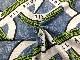 【カット済】オリジナル30/-TOP杢リバー天竺ニット グレー杢 リニアモーターカー柄 グリーン